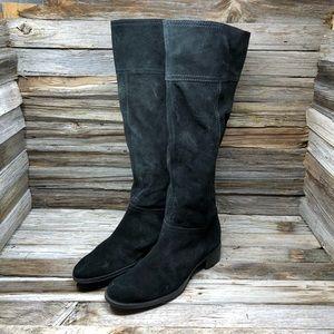 Nine West Black Knee High Nubuck Boots 9.5